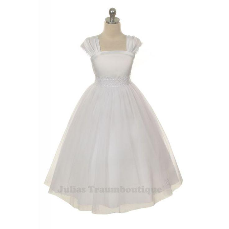 Kinderfestkleid Melissa Größe 98 bis 176 in weiß oder creme - für Hochzeit oder Kommunion