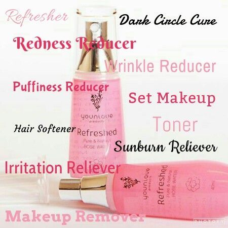 Refreshing Rose Water from Younique has so many uses!  www.charsbeautyboutique.com