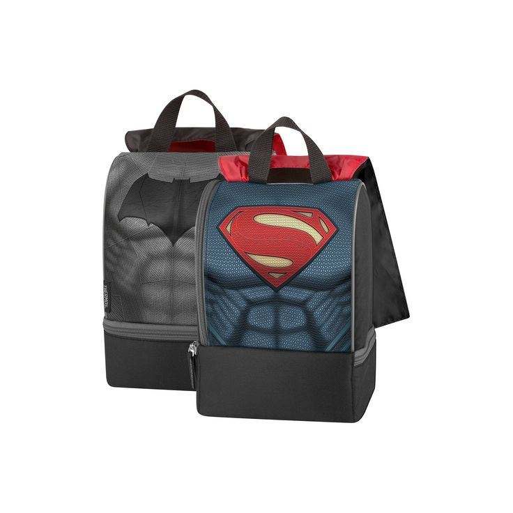 Thermos Genuine Thermos Brand Dual Compartment Lunch Box - Batman v Superman, Black