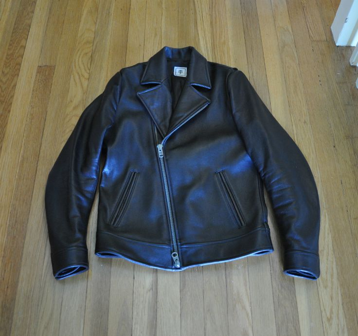 Another candidate for perfect leather jacket? Much prefer perfecto-style jackets without the studs on the lapels (see also Bastian FW13).