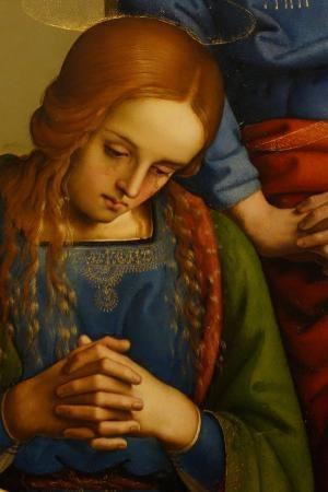 IL PERUGINO - Pietà, dettaglio -  olio su tavola (168x176 cm) -  1483-1493 circa - Galleria degli Uffizi a Firenze.