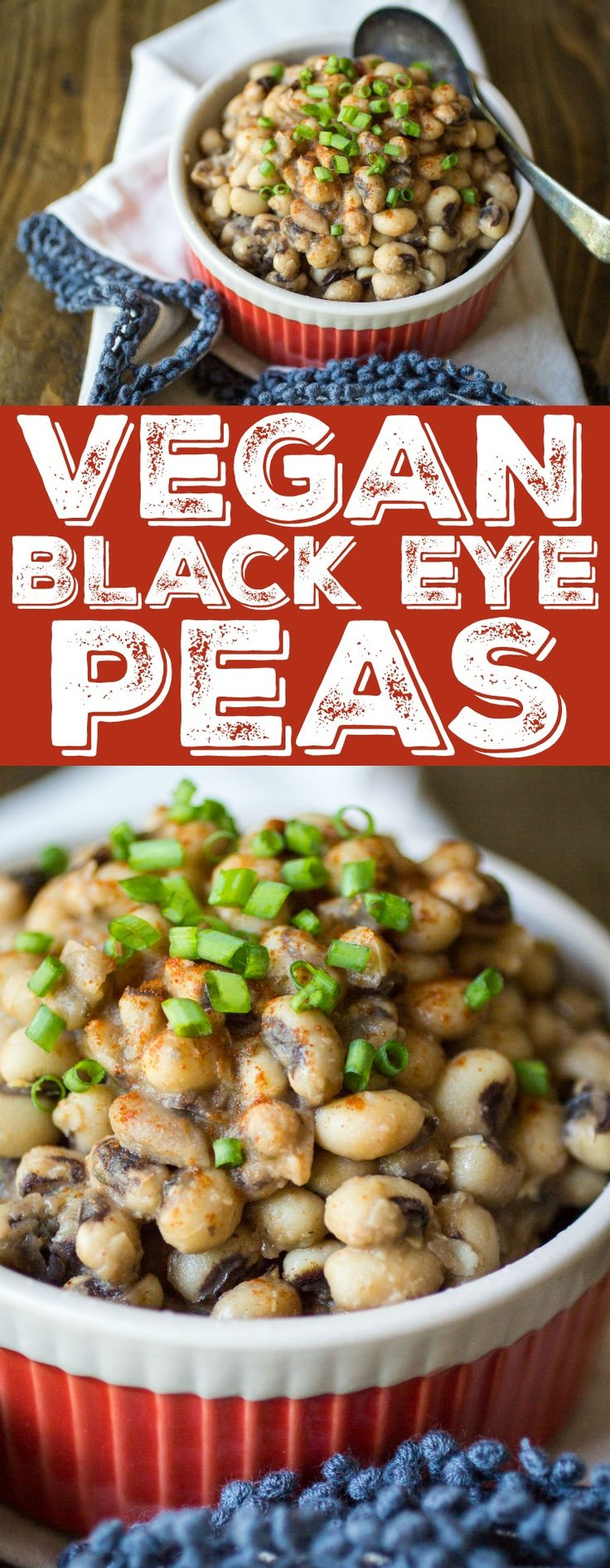 Vegan black eyed peas get a southern-style kick from hot sauce, spices, and a secret ingredient.
