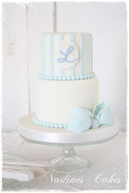 Cake for baby boy Liam by Nadine's Cakes & My little white home, via Flickr