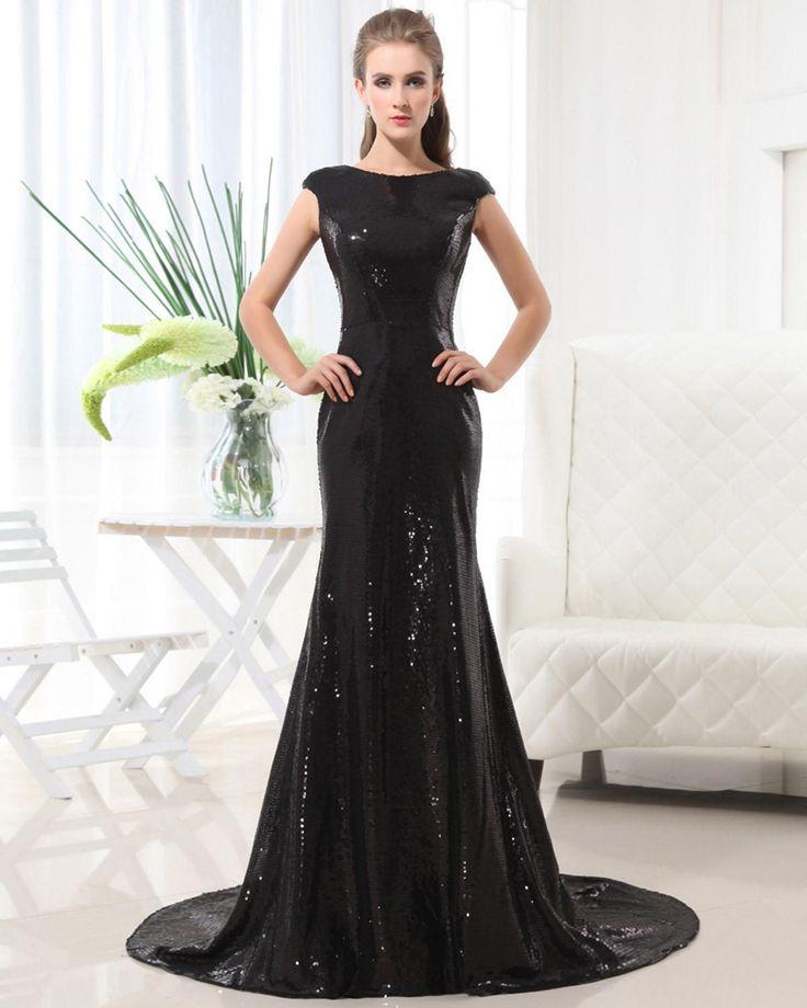 Sleeveless Sequins Floor Length Celebrity Dress