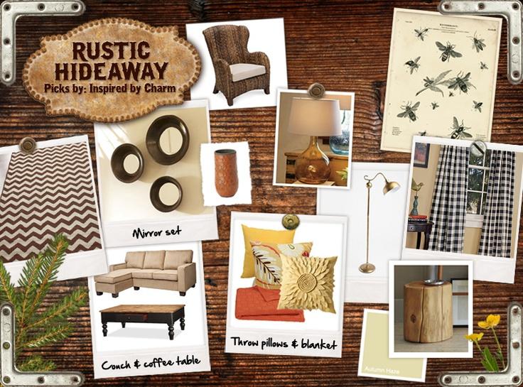 rustic pinboard
