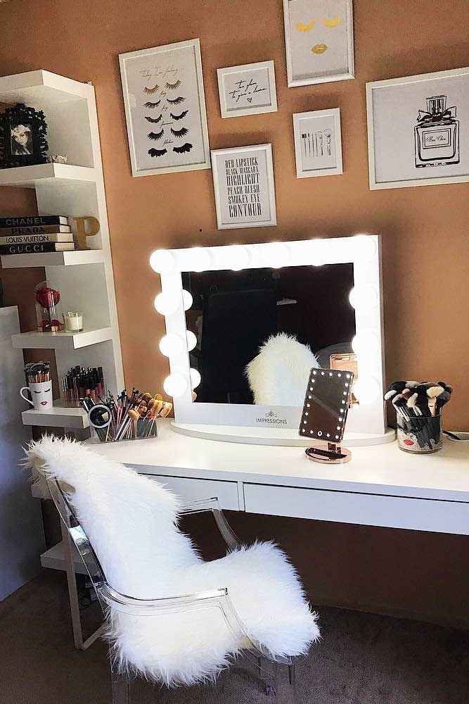Makeup Stand Designs : Makeup vanity table designs to decorate your home vanity