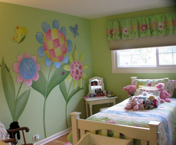 Decorating Flower Wall Murals Bedroom Ideas