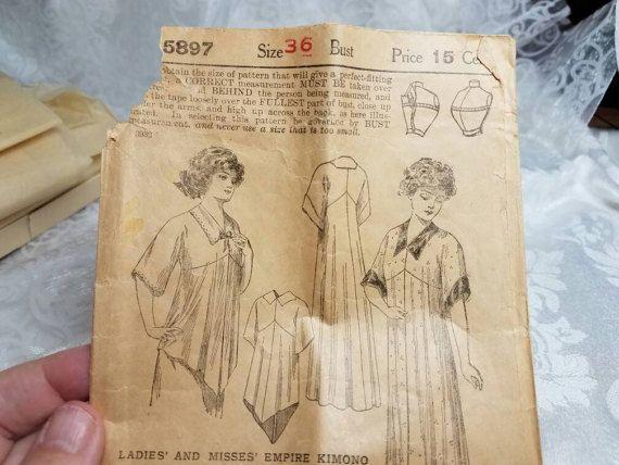 1900s Antique Dress Pattern Ladies Home Journal 5896 Vintage #vintagepattern #sewingpattern #etsygift #fashion#vogueteam