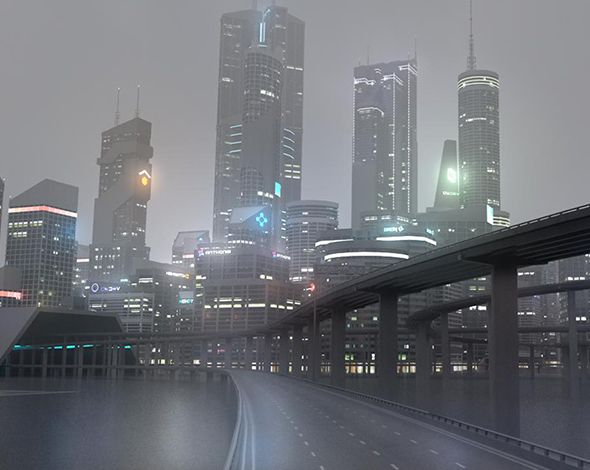 Freeway08 City  3D model and object for city modelling  #3D #3DModel