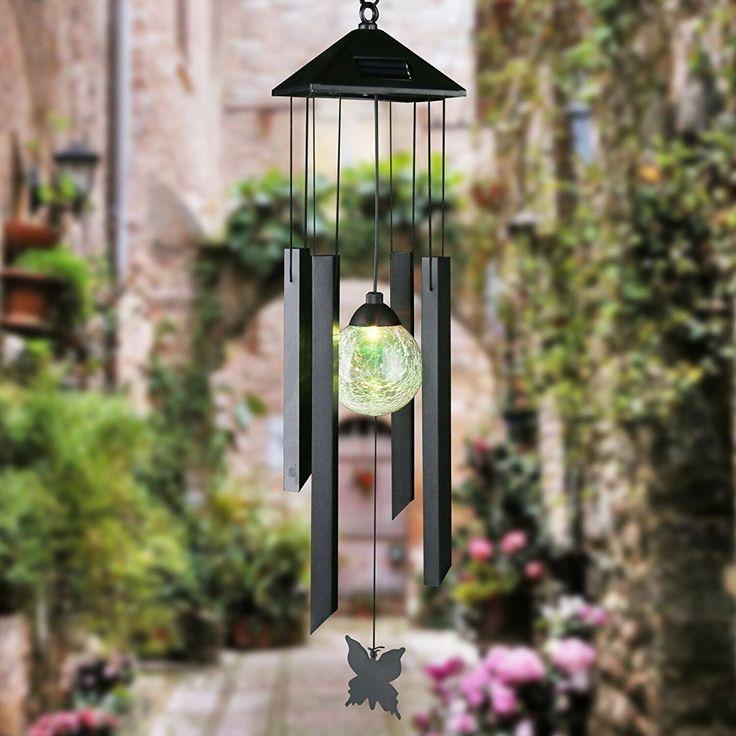 Solar Powered Wind chimeSolar Garden Lights Outdoor
