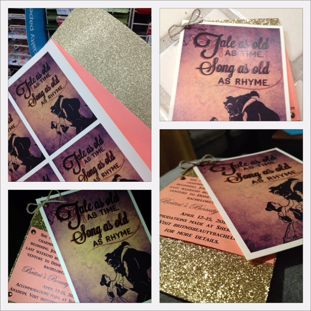 Beauty and The Beast Bachelorette invites! 2nd original pin!
