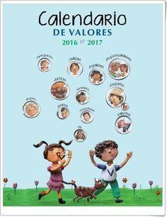 """Recursos didácticos para imprimir, ver, leer: """"Calendario de Valores 2016-17"""" (Valores.mx.com)"""