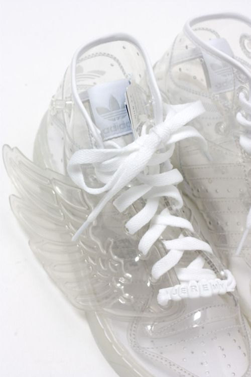 For some unfathomable reason I absolutely need these winged jelly Adidas in my life.