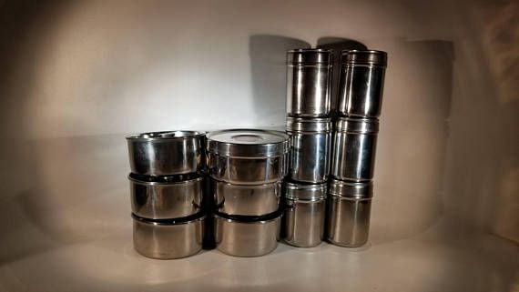 Stainless steel storage containers spice containers indian