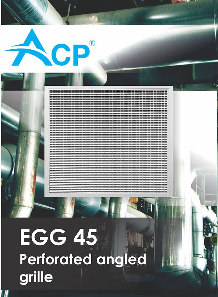 Angled perforated grille ( Grila perforata inclinata)  | #hvac | #acp | #manufacturer | #ventilation | #products | #romania | #ventilatie  | #griledeventilatie | #producator