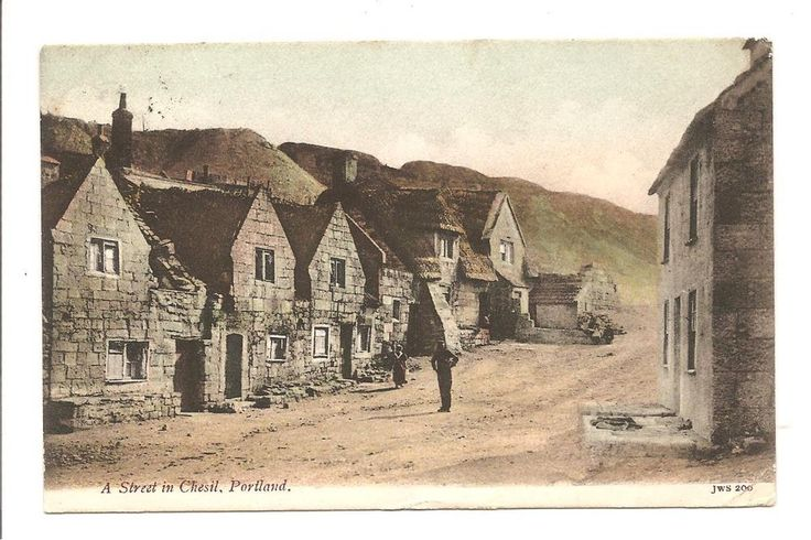 EARLY PRINTED POSTCARD A STREET IN CHESIL PORTLAND