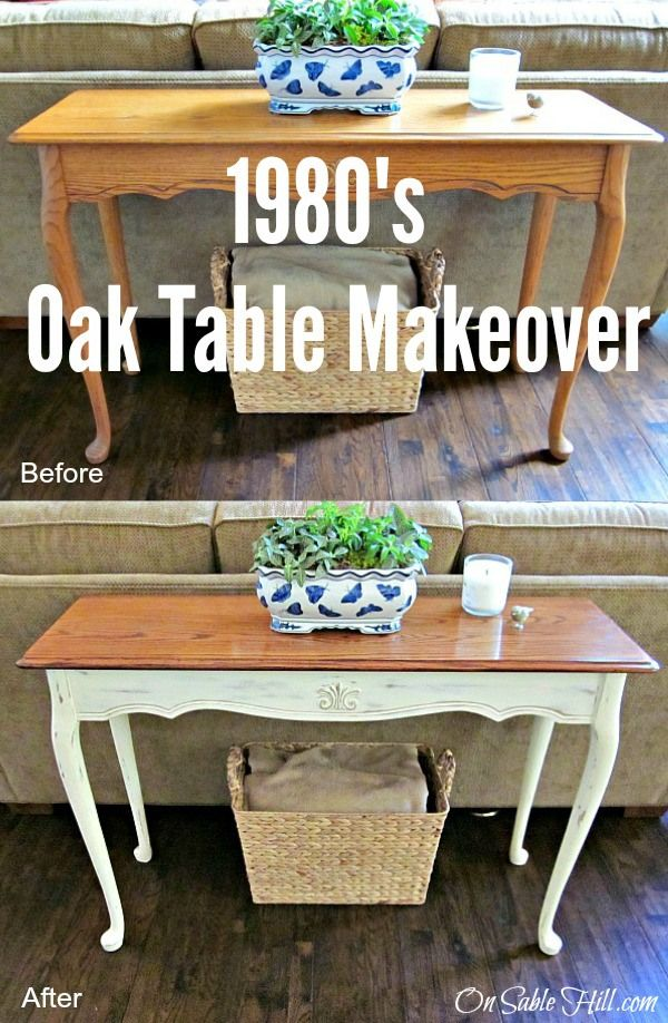 1980's Oak Table Makeover using General Finishes Gel Stain and Annie Sloan Chalk Paint. Both were easy to use giving it a whole new look.