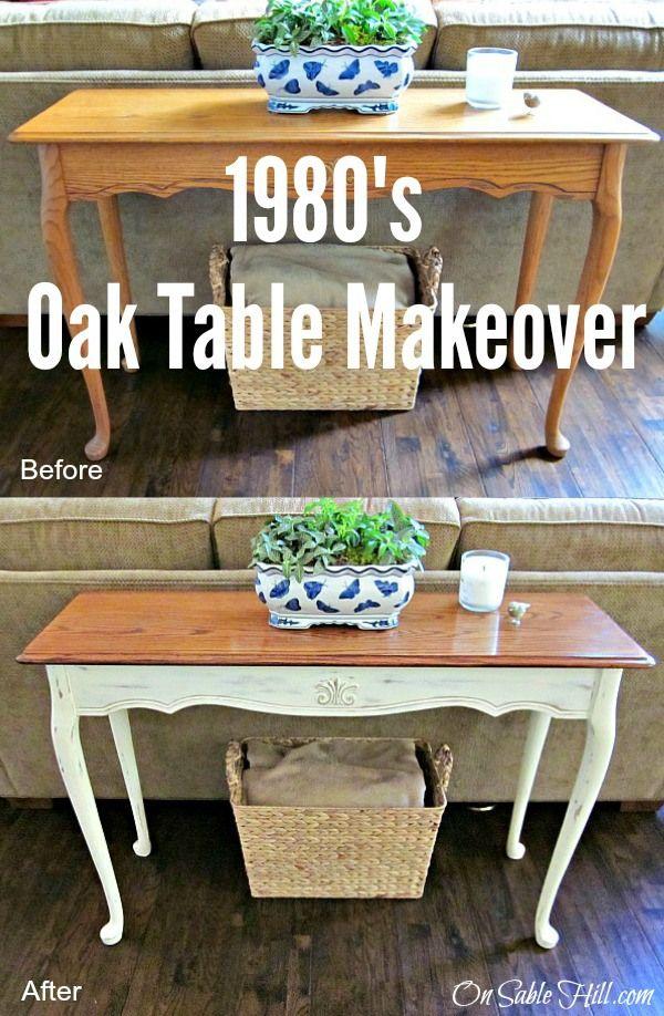 25 best ideas about painted oak table on pinterest oak