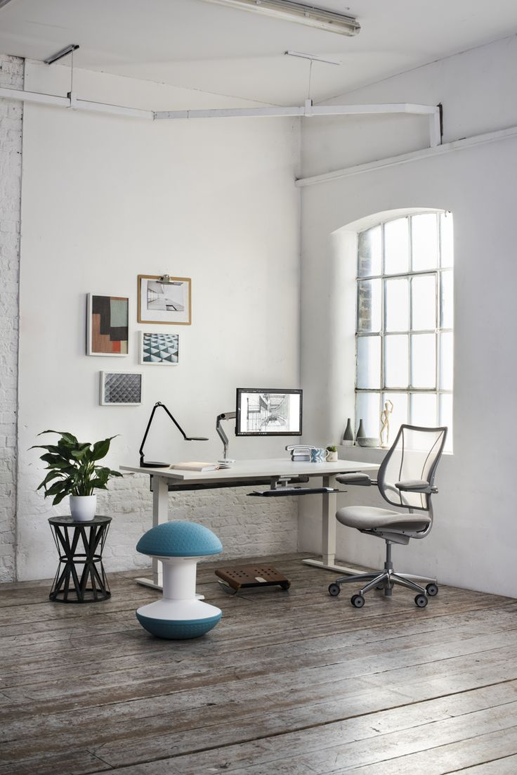 Humanscale Home Office Ideas, Natural Light, White Space, Large Windows,  Liberty Chair · Sit Stand ...