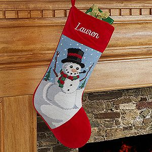 Buy Personalize Needlepoint Christmas Stockings & choose from four designs - Free personalization! See more Personalized Christmas Stockings at PersonalizationMall.com