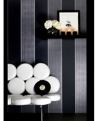 Graham & Brown - Bold Stripe Wallpaper. Bold Stripe is visually stunning, hung vertically or horizontally, the metallic accents combined with the matt, velvety finish create a fabulous look for any home.