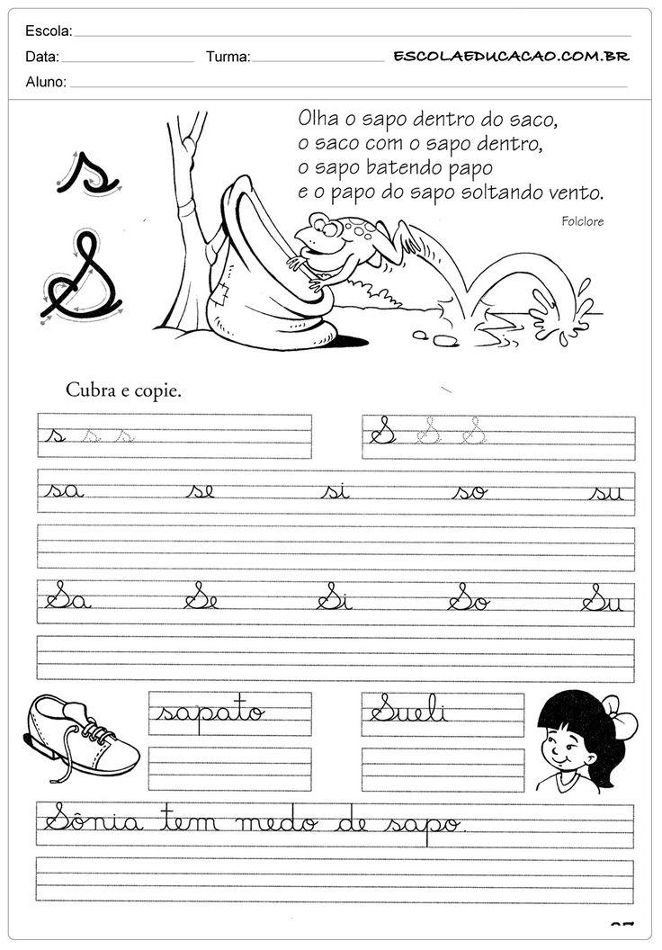 Atividade de caligrafia letra S
