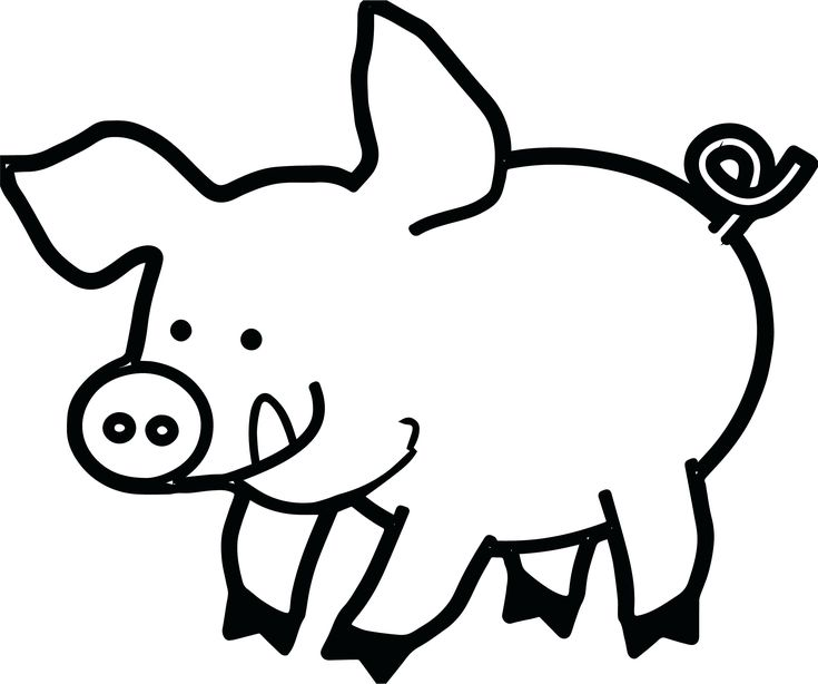 Pig Face Drawing 35 20 Clipart Black And White Pig face