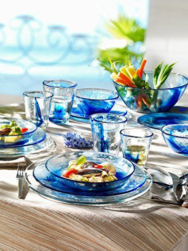 The fine tradition of the Bormioli Rocco Group coincides with the very history of glass: the first glassworks was established in Parma in 1825. The company has always demonstrated a great drive to pioneer innovation: in machinery, materials and design. Over the years it has developed a special... - http://kitchen-dining.bestselleroutlet.net/product-review-for-bormioli-rocco-murano-soup-plates-tempered-glass-blue-set-of-6-8-6-diameter-x-1-5-h/