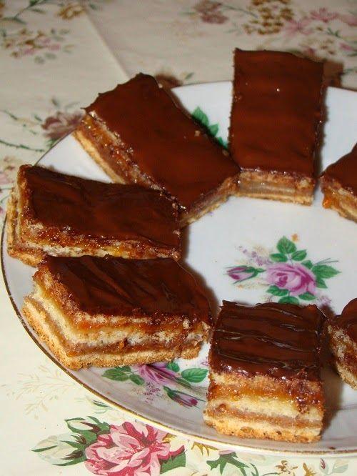 Cristina's world: Prajitura delicioasa de post, cu foi si gem