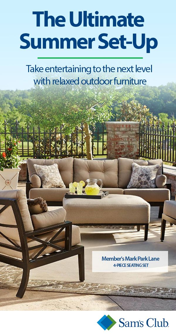 There is no better way to enjoy the outdoors this summer than with the beautiful patio furniture from Sam's Club. Whether you are looking for a patio seating set, a dining set, a bistro set or even all three, Sam's Club has great prices and selection so you are sure to find the perfect patio sets for your home.