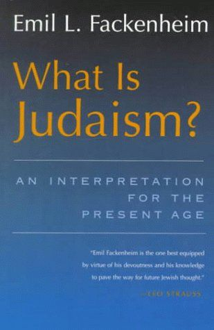 What Is Judaism?: An Interpretation for the Present Age (Library of Jewish Philosophy):   A presentation of both an introduction to Judaism and an analysis of its essence in the light of the Holocaust and the creation of the state of Israel, written by a contemporary American philosopher. It begins with the religious situation of the contemporary Jew, and covers topics such as anti-Semitism, Zionism, and the relationship between Judaism and other religions.