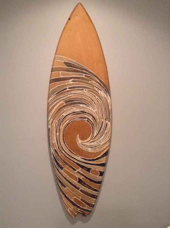 Painted Surfboard - Painted Surf Board - Wood Surfboard - Wood Surf Board…
