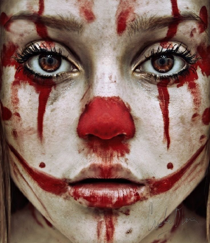 Sometimes I feel like a clown who can't wash off her makeup.