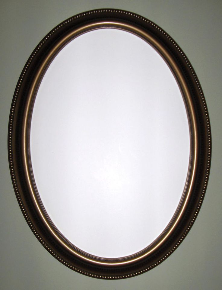 Oval Mirror With Bronze Color Frame Wall Mirror Bathroom