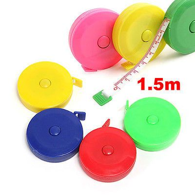 1-5M-Retractable-Ruler-Tape-Measure-60inch-Sewing-Cloth-Dieting-Tailor-New