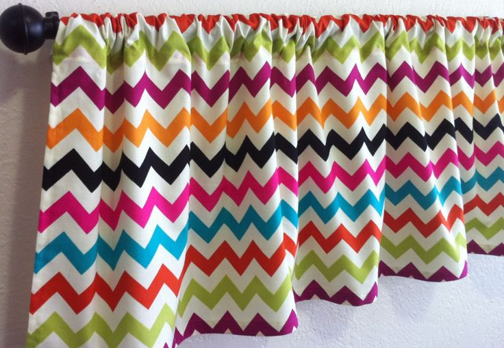 Chevron Valance, Window Valance, Colorful Chevron Valance, 41 Inches, Window Treatment, Chevron Valance, Custom Curtains, Home Decor by ThatLilSouthernShop on Etsy
