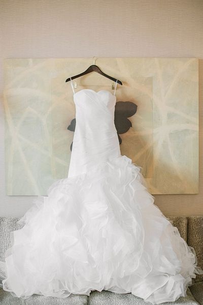 Your photographer will take about 100 photos of your gown on the big day, and there's something especially magical about a still-life shot.