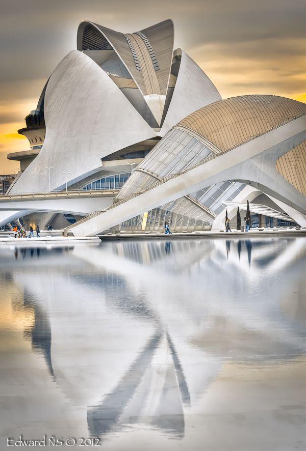 Palau de les Arts Reina Sofía, Valencia, Spain by Santiago Calatrava