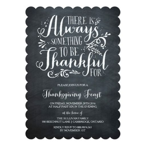 Always Thankful | Rustic Thanksgiving Invitation More
