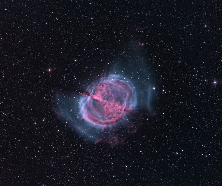 M27: The Dumbbell Nebula. The first hint of what will become of our Sun was discovered inadvertently in 1764. At that time, Charles Messier was compiling a list of diffuse objects not to be confused with comets. The 27th object on Messier's list, now known as M27 or the Dumbbell Nebula, is a planetary nebula, the type of nebula our Sun will produce when nuclear fusion stops in its core. M27 is one of the brightest planetary nebulae on the sky.