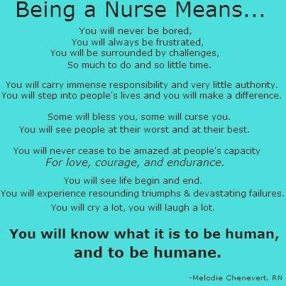What becoming a nurse means to me