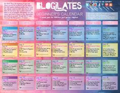 blogilates beginners calendar!!! Free youtube workouts from Cassey Ho that make you SORE and get you fit! I'm doing her 90 day challange food plan and this calendar and its perfect! I'm toning up safely and effectively and not working SOHARD where I just want to quit. SHE MAKES FITNESS FUN Y'ALL