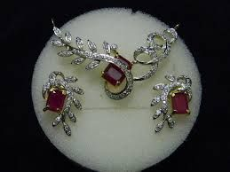 Artificial Set with Ruby n Diamonds