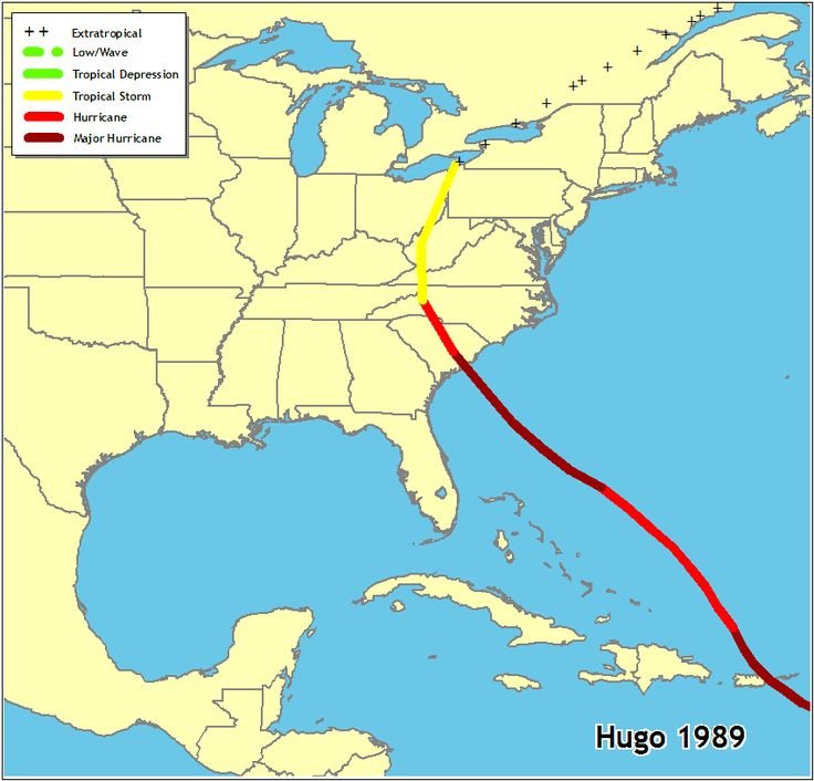 Best Hurricane Hugo In Charleston SC Images On Pinterest - Charleston sc on us map