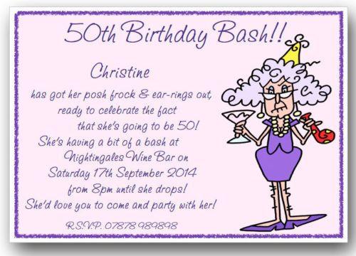 Image result for 50th birthday invitation wording