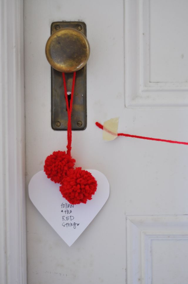 Cute idea to surprise hubbie with a gift, date, trip..anything. Put it on the front door before he comes home from work.