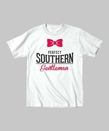 Another great find on #zulily! White 'Perfect Southern Gentleman' Tee - Toddler & Boys by Country Casuals #zulilyfinds