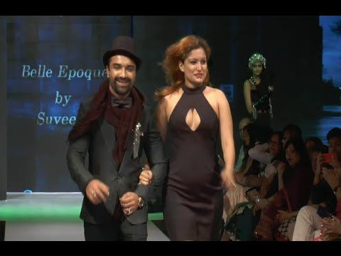 Ajaz Khan's rowdy and stylish ramp walk at Madam Style Week 2014.