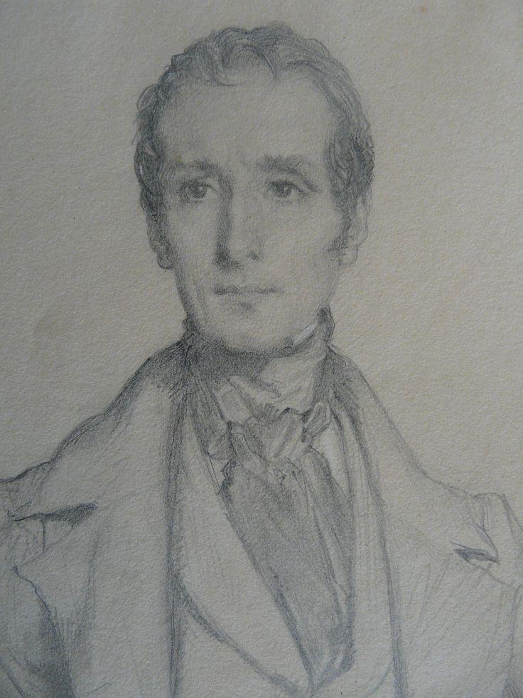 CHASSERIAU Théodore,1844 - Portrait de Lamartine - drawing - Détail 08