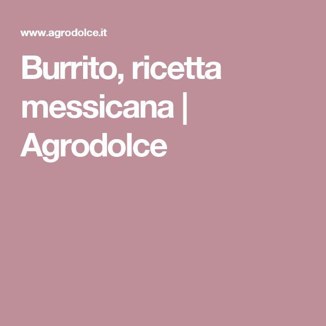 Burrito, ricetta messicana   Agrodolce